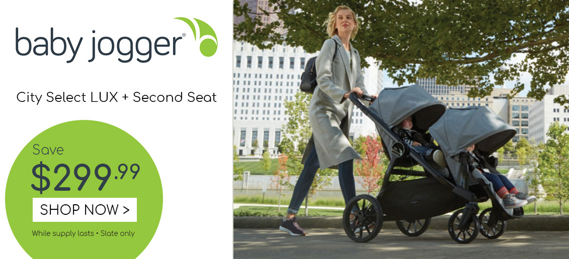 baby jogger sale city select lux slate with second seat