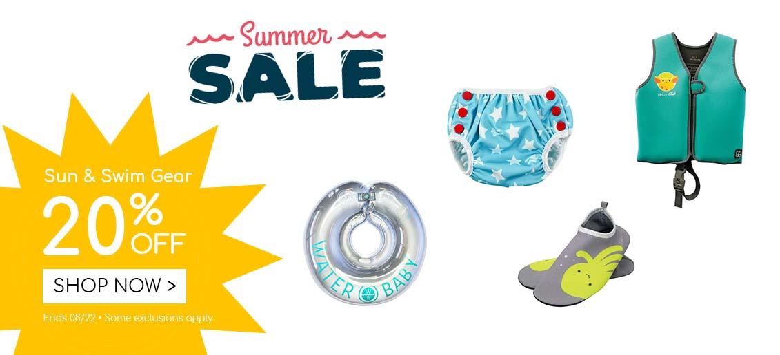 Summer Sale Sun Swim Gear 20% off
