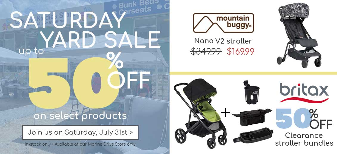 Yard Sale up to 50% off select product Marine Drive Vancouver