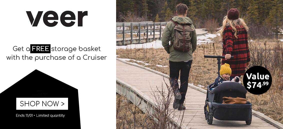 veer cruiser free storage basket