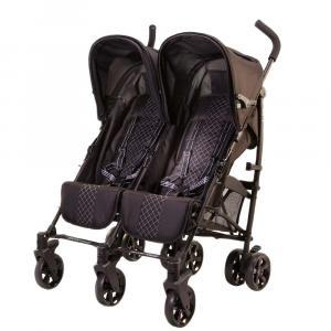 Twice Double Stroller Black