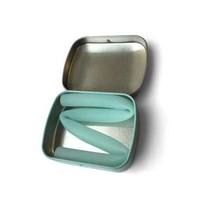 Single Reusable Straw with Tin Container Mint