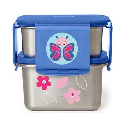 Zoo Stainless Steel Lunch Kit Butterfly