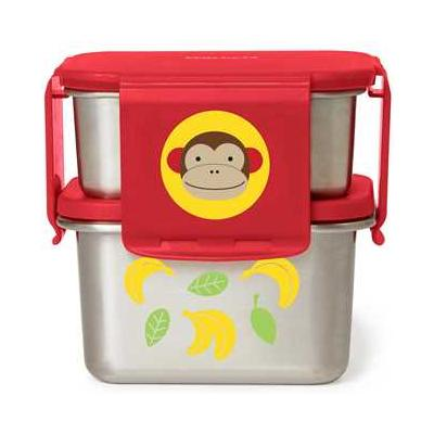 Zoo Stainless Steel Lunch Kit Monkey
