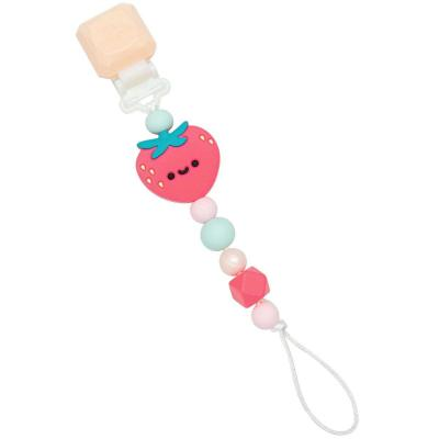Darling Pacifier Clip - Strawberry