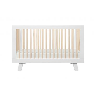 Hudson 3 in 1 Crib with Toddler Rail White Washed Natural